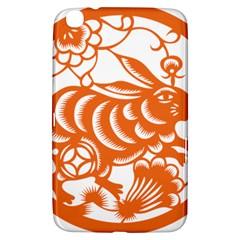 Chinese Zodiac Horoscope Rabbit Star Orange Samsung Galaxy Tab 3 (8 ) T3100 Hardshell Case  by Mariart