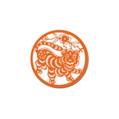 Chinese Zodiac Signs Tiger Star Orangehoroscope Golf Ball Marker (4 Pack) by Mariart