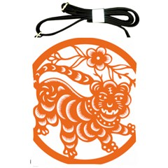 Chinese Zodiac Signs Tiger Star Orangehoroscope Shoulder Sling Bags by Mariart