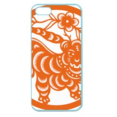 Chinese Zodiac Signs Tiger Star Orangehoroscope Apple Seamless Iphone 5 Case (color) by Mariart