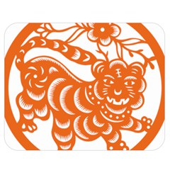 Chinese Zodiac Signs Tiger Star Orangehoroscope Double Sided Flano Blanket (medium)  by Mariart