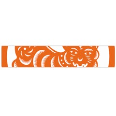 Chinese Zodiac Signs Tiger Star Orangehoroscope Flano Scarf (large) by Mariart