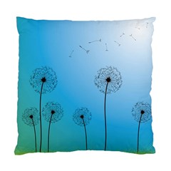 Flower Back Blue Green Sun Fly Standard Cushion Case (one Side) by Mariart