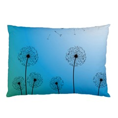 Flower Back Blue Green Sun Fly Pillow Case by Mariart