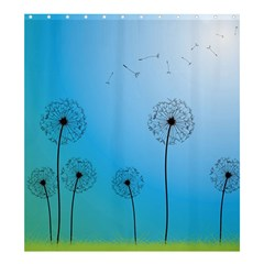 Flower Back Blue Green Sun Fly Shower Curtain 66  X 72  (large)  by Mariart