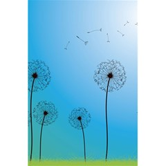 Flower Back Blue Green Sun Fly 5 5  X 8 5  Notebooks by Mariart