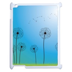 Flower Back Blue Green Sun Fly Apple Ipad 2 Case (white) by Mariart