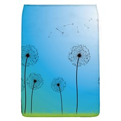Flower Back Blue Green Sun Fly Flap Covers (l)  by Mariart