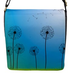 Flower Back Blue Green Sun Fly Flap Messenger Bag (s) by Mariart