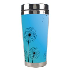 Flower Back Blue Green Sun Fly Stainless Steel Travel Tumblers by Mariart