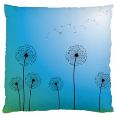 Flower Back Blue Green Sun Fly Large Flano Cushion Case (one Side) by Mariart