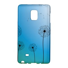 Flower Back Blue Green Sun Fly Galaxy Note Edge by Mariart