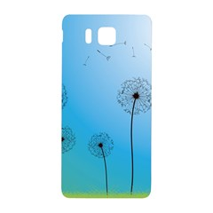 Flower Back Blue Green Sun Fly Samsung Galaxy Alpha Hardshell Back Case by Mariart