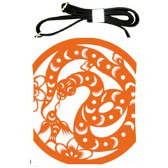 Chinese Zodiac Horoscope Snake Star Orange Shoulder Sling Bags by Mariart