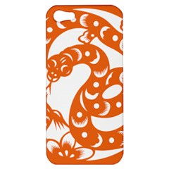 Chinese Zodiac Horoscope Snake Star Orange Apple Iphone 5 Hardshell Case by Mariart
