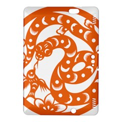 Chinese Zodiac Horoscope Snake Star Orange Kindle Fire Hdx 8 9  Hardshell Case by Mariart
