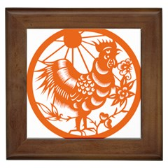 Chinese Zodiac Horoscope Zhen Icon Star Orangechicken Framed Tiles by Mariart