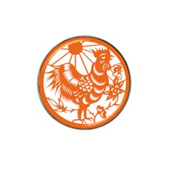 Chinese Zodiac Horoscope Zhen Icon Star Orangechicken Hat Clip Ball Marker (10 Pack) by Mariart