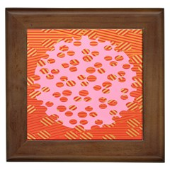 Distance Absence Sea Holes Polka Dot Line Circle Orange Chevron Wave Framed Tiles by Mariart