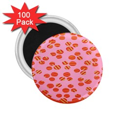 Distance Absence Sea Holes Polka Dot Line Circle Orange Chevron Wave 2 25  Magnets (100 Pack)  by Mariart