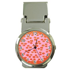 Distance Absence Sea Holes Polka Dot Line Circle Orange Chevron Wave Money Clip Watches by Mariart