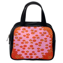 Distance Absence Sea Holes Polka Dot Line Circle Orange Chevron Wave Classic Handbags (one Side) by Mariart