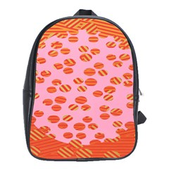 Distance Absence Sea Holes Polka Dot Line Circle Orange Chevron Wave School Bags(large)  by Mariart