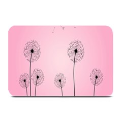 Flower Back Pink Sun Fly Plate Mats by Mariart