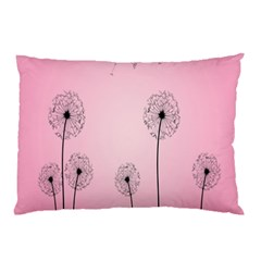 Flower Back Pink Sun Fly Pillow Case by Mariart