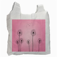 Flower Back Pink Sun Fly Recycle Bag (one Side) by Mariart