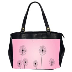 Flower Back Pink Sun Fly Office Handbags (2 Sides)  by Mariart