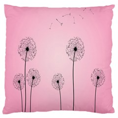Flower Back Pink Sun Fly Large Cushion Case (one Side) by Mariart