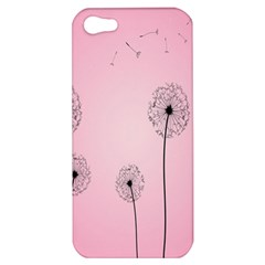Flower Back Pink Sun Fly Apple Iphone 5 Hardshell Case by Mariart