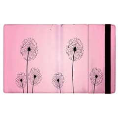 Flower Back Pink Sun Fly Apple Ipad 3/4 Flip Case by Mariart