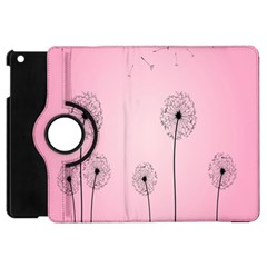 Flower Back Pink Sun Fly Apple Ipad Mini Flip 360 Case by Mariart