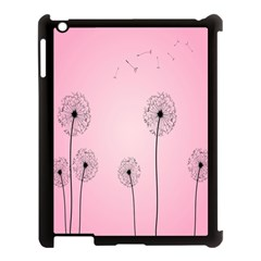 Flower Back Pink Sun Fly Apple Ipad 3/4 Case (black) by Mariart