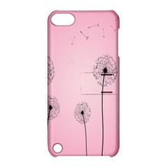 Flower Back Pink Sun Fly Apple Ipod Touch 5 Hardshell Case With Stand by Mariart