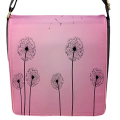 Flower Back Pink Sun Fly Flap Messenger Bag (s) by Mariart