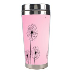 Flower Back Pink Sun Fly Stainless Steel Travel Tumblers by Mariart