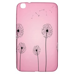 Flower Back Pink Sun Fly Samsung Galaxy Tab 3 (8 ) T3100 Hardshell Case  by Mariart