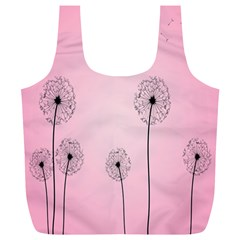 Flower Back Pink Sun Fly Full Print Recycle Bags (l)  by Mariart