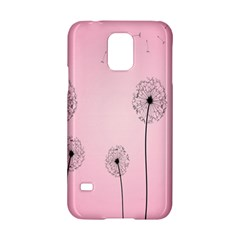 Flower Back Pink Sun Fly Samsung Galaxy S5 Hardshell Case  by Mariart