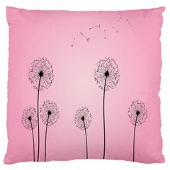 Flower Back Pink Sun Fly Large Flano Cushion Case (one Side) by Mariart