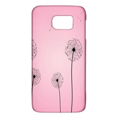 Flower Back Pink Sun Fly Galaxy S6 by Mariart