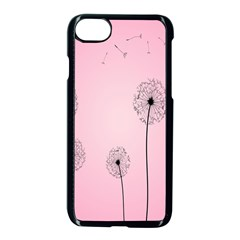 Flower Back Pink Sun Fly Apple Iphone 7 Seamless Case (black) by Mariart