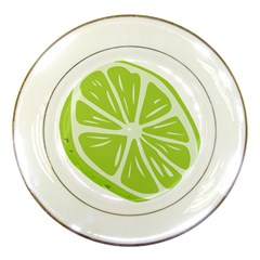 Gerald Lime Green Porcelain Plates by Mariart