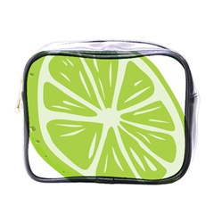 Gerald Lime Green Mini Toiletries Bags by Mariart