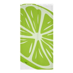 Gerald Lime Green Shower Curtain 36  X 72  (stall)  by Mariart