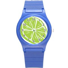 Gerald Lime Green Round Plastic Sport Watch (s) by Mariart