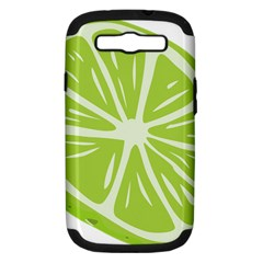 Gerald Lime Green Samsung Galaxy S Iii Hardshell Case (pc+silicone) by Mariart